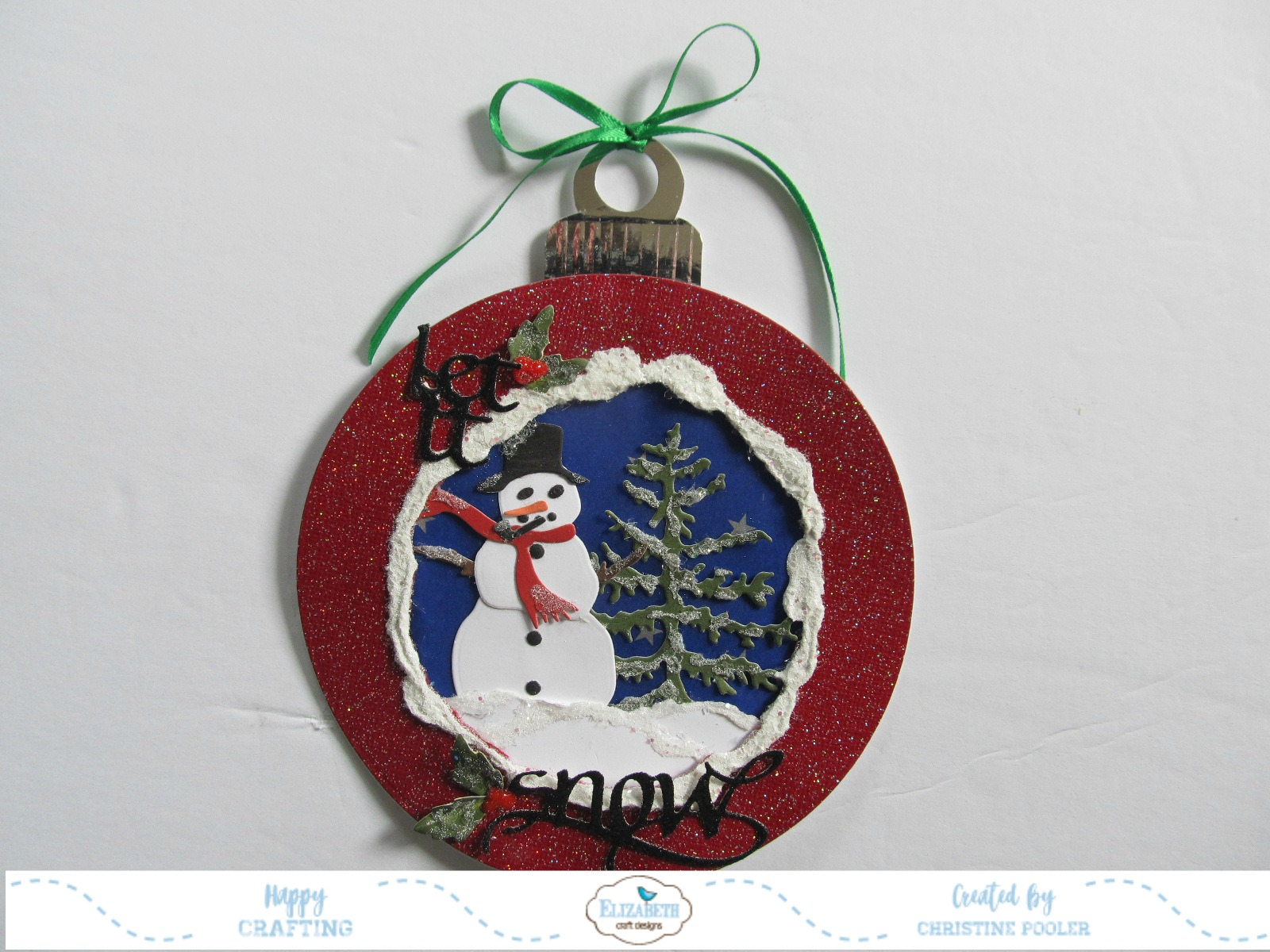 2017-10-24 Snowman Ornament Card3