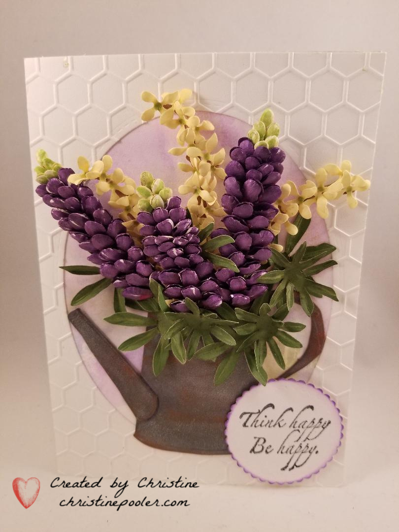 Watering Can with Lupines