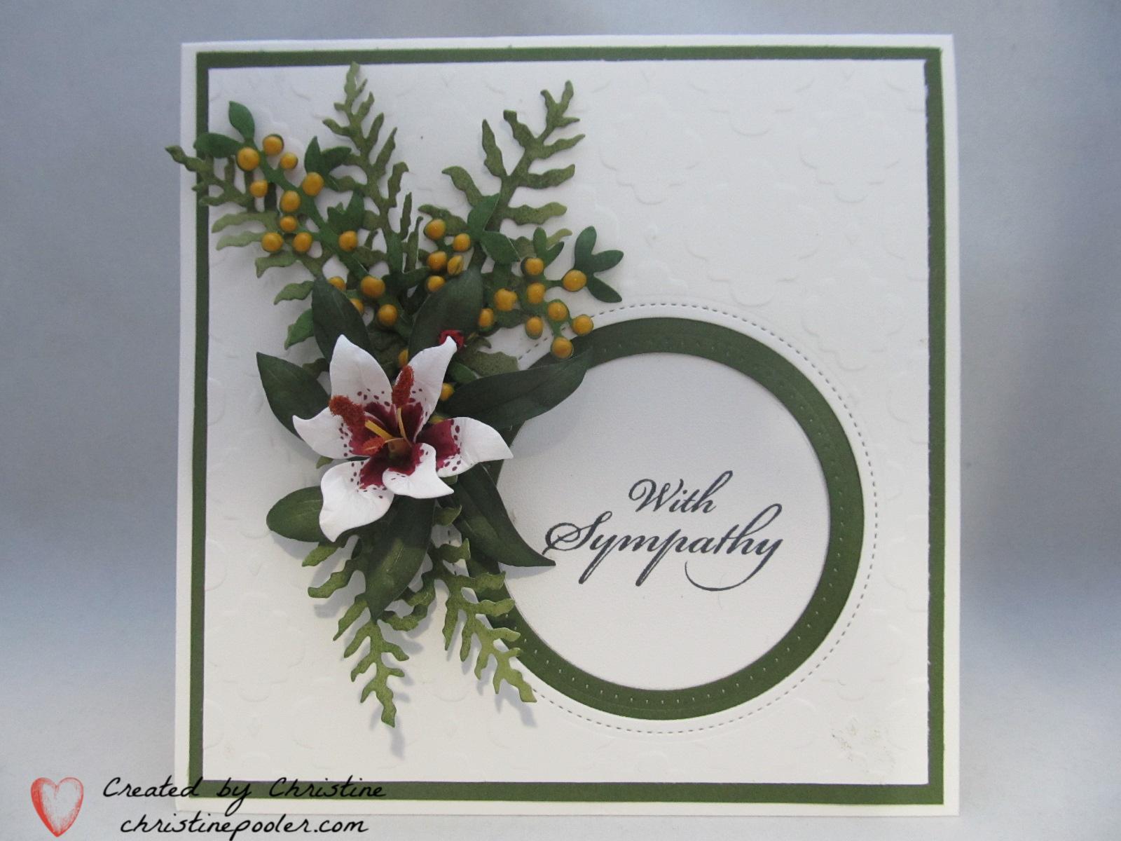 Sympathy white lily