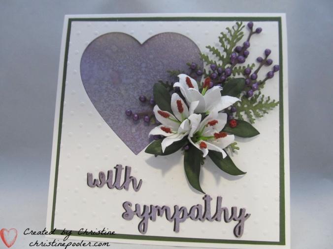 Violet sympathy lilies