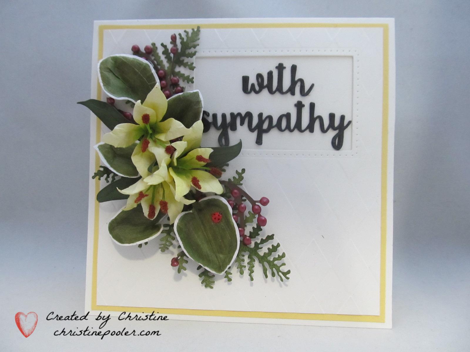 Yellow Lilies sympathy