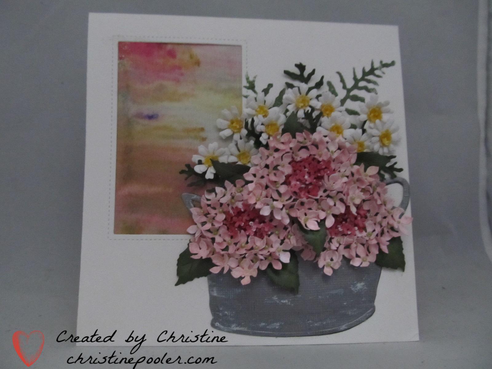 Pink Hydrangea & Feverfew