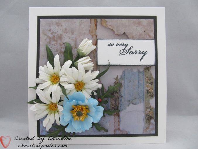 Blue Poppy & Daisies